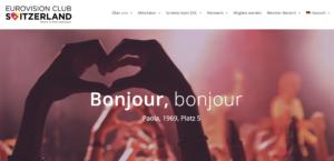 Website Eurovision Club Switzerland 2021